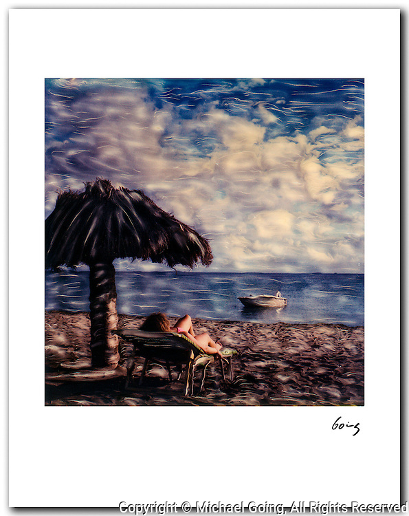 Lounge Chair, St Kitts BWI 1987. 11x14 signed archival pigment print. Free shipping USA