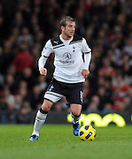 Rafael Van Der during the Barclays Premier League match between Manchester United and Tottenham Hotspur at Old Trafford on October 30, 2010 in Manchester, England.