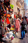 "BOLIVIA, LA PAZ Mercado de Hechiceria or ""witches market"" on Ave. Sagamaga in the old colonial area with street vendors and craft shops"