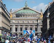 Présidentielles 2012 : Défilé du 1er mai du Front national à l'Opéra - 1er mai 2012