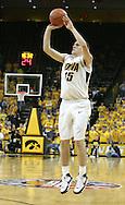 26 NOVEMBER 2007: Iowa guard Dan Bohall (15) tries a three point shot in Wake Forest's 56-47 win over Iowa at Carver-Hawkeye Arena in Iowa City, Iowa on November 26, 2007.