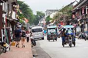 Laos. Luang Prabang. Tuk-tuks.