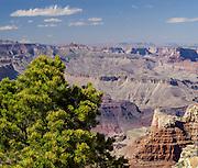 Grand Canyon south rim wide angle view, Arizona, USA, April 2014