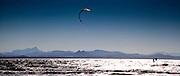 Kite surfing in Byron
