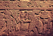 MEXICO, MEXICO CITY, MUSEUM Aztec: the 'Warriors Stone'