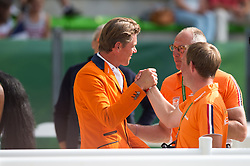 Jeroen Dubbeldam and Gerco Schroder - Show Jumping Final Four - Alltech FEI World Equestrian Games™ 2014 - Normandy, France.<br /> © Hippo Foto Team - Jon Stroud<br /> 07/09/2014