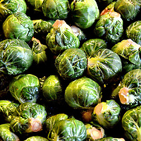Brussels Sprouts at Public Market Center in Seattle, Washington
