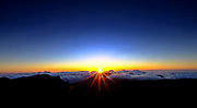 Sunrise atop Mt Haleakalā on the Island of Maui