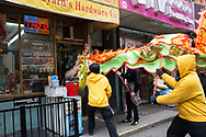Dragon and Lion festival in Chinatown, New York City.