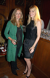 Left to right, LUCY YEOMANS and MEREDITH OSTROM at The Hospital Awards - to honour talent in the creative industry, held at 9 Grosvenor Place, London on 3rd october 2006.<br /><br />NON EXCLUSIVE - WORLD RIGHTS