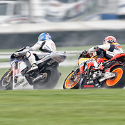 August 8, 2009, Andrea Dovizioso follows Jorge Lorenzo during Free Practice 1 at the Red Bull Indianapolis Grand Prix.