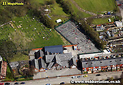 aerial photograph of Fold Rd  Bolton Lancashire England UK