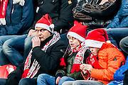 ENSCHEDE - 17-12-2016, FC Twente - AZ, Grolsch Velst Stadion, 1-2, gezelligheid op de tribune, supporters.kerst.