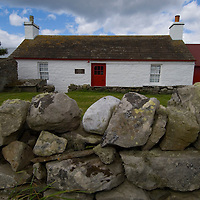 Rural cottage in Caithness few miles from where HRH The Prince Charles Duke of Rothesay and HRH Duchess of Rothesay watch the Mey Games at Mey (Caithness) Scotland Aug 4 2007