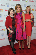 Nancy Brown, left, CEO, American Heart Association, poses with event host Hoda Kotb, center, and honoree Dr. Kathy Magliato, cardiothoracic surgeon and AHA board member, at Woman's Day Red Dress Awards, benefitting AHA's Go Red For Women, Tuesday February 9, 2016, in New York. (Photo by Diane Bondareff/Invision for Go Red For Women/AP Images)