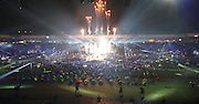 03.08.2014. Glasgow, Scotland. Glasgow Commonwealth Games. Closing Ceremony from Hampden Park. Fireworks close the show