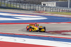 February 12, 2019 - Austin, Texas, U.S. - RYAN HUNTER-REAY (28) of the United States goes through the turns during practice for the IndyCar Spring Test at Circuit Of The Americas in Austin, Texas. (Credit Image: © Walter G Arce Sr Asp Inc/ASP)