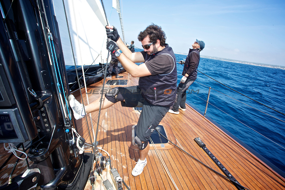 MENORCA MAXI 2014, on board Galma © Jesus Renedo