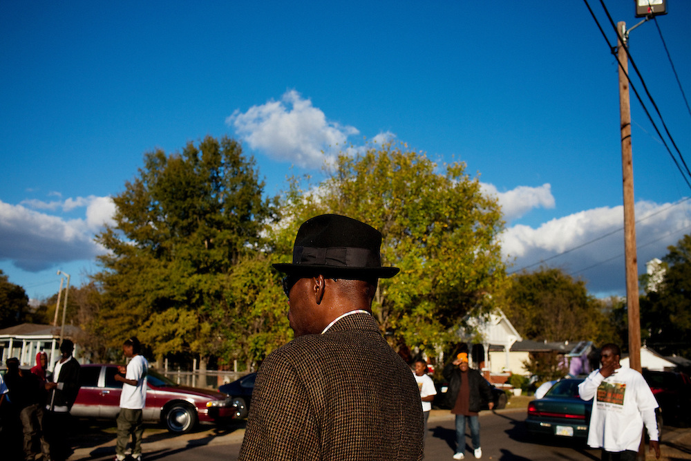 """The funeral of Demetrius """"Butta"""" Anderson, 18, in the  Baptist Town neighborhood of Greenwood, Mississippi on Friday, November 5, 2010."""