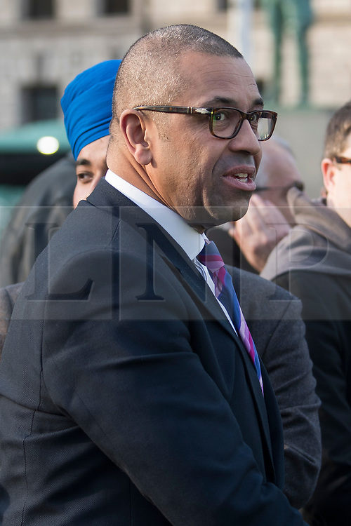 © Licensed to London News Pictures. 26/03/2018. London, UK. Conservative MP JAMES CLEVERLY joins a demonstration outside the Houses of Parliament in London held by Members of the Jewish community and Jewish leaders, against Jeremy Corbyn, who they accuse of not acting on anti-semitic behaviour in the Labour Party. Photo credit: Ben Cawthra/LNP