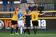 Southport players appeal for a penalty during the The FA Cup match at Haig Avenue, Southport<br /> Picture by Ian Wadkins/Focus Images Ltd +44 7877 568959<br /> 07/12/2014