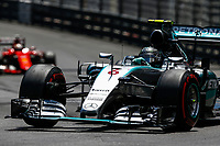 ROSBERG nico (ger) mercedes gp mgp w06, VETTEL sebastian (ger) ferrari sf15t action during the 2015 Formula One World Championship, Grand Prix of Monaco from on May 24th 2015,  in Monaco. Photo Florent Gooden / DPPI