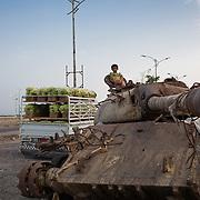 A fruit and veg stall in Aden, Yemen