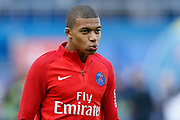 Paris Saint Germain's French forward Kylian Mbappe warms up before the French Championship Ligue 1 football match between Paris Saint-Germain and Girondins de Bordeaux on September 30, 2017 at the Parc des Princes stadium in Paris, France - Photo Benjamin Cremel / ProSportsImages / DPPI