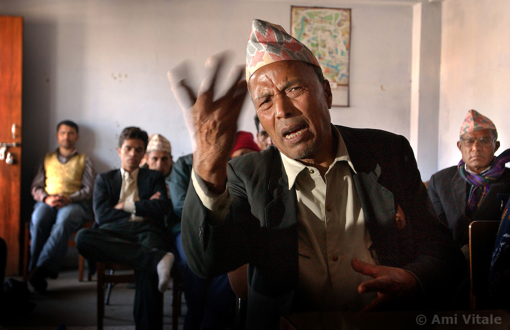 Dor Bahadur Karki, 65, speaks about his experiences with the Maoists in Kathmandu, Nepal March 6, 2005.   The conflict between government troops and the Maoist insurgents has claimed over 11,000 lives since 1996. (Ami Vitale)
