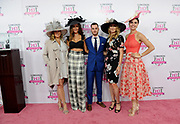 Jill Goodacre Connick, Courtney Sixx, Sam White, Stefanie Graf, Longines Ambassador of Elegance, and Briana Mott, left to right, pose for a photo at the Longines Kentucky Oaks Day Fashion Contest, Friday, May 5, 2017, in Louisville, KY. Longines, the Swiss watch manufacturer known for its luxury timepieces, is the Official Watch and Timekeeper of the 143rd annual Kentucky Derby. (Photo by Diane Bondareff/AP Images for Longines)