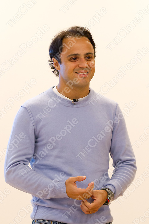 Williams Martini Racing Formula<br /> One Driver Felipe Massa answering questions for the staff of Genworth