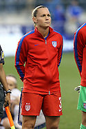 26 October 2014: Christie Rampone (USA). The United States Women's National Team played the Costa Rica Women's National Team at PPL Park in Chester, Pennsylvania in the 2014 CONCACAF Women's Championship championship game. By advancing to the final, both teams have qualified for next year's Women's World Cup in Canada. The United States won the game 6-0.