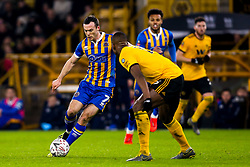 Shaun Whalley of Shrewsbury Town takes on Ivan Cavaleiro of Wolverhampton Wanderers - Mandatory by-line: Robbie Stephenson/JMP - 05/02/2019 - FOOTBALL - Molineux - Wolverhampton, England - Wolverhampton Wanderers v Shrewsbury Town - Emirates FA Cup fourth round replay