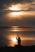 Greeting the sunrise in Bali, Indonesia.