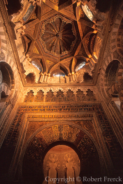 SPAIN, ANDALUSIA, CORDOBA 'La Mezquita' Great Mosque Mihrab