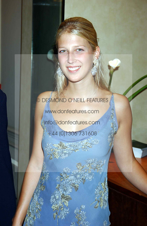 LADY GABRIELLA WINDSOR daughter of Prince & Princess Michael of Kent at a party hosted by Dom Perignon and Vanity Fair magazine to celebrate the launch of a unique collection of essays based on the theme of seduction to raise money for the charity English Pen. The paty was held at the Dom Perignon Mallroom,  13 Grosvenor Crescent, London W1 on 8th September 2004.