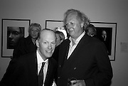 ANDREW WYLLIE AND GRAYDON CARTER, Vanity Fair Portraits: Photographs 1913-2008. Hosted by Burberry and Vanity Fair. National Portrait Gallery. London. 9 February 2008.  *** Local Caption *** -DO NOT ARCHIVE-© Copyright Photograph by Dafydd Jones. 248 Clapham Rd. London SW9 0PZ. Tel 0207 820 0771. www.dafjones.com.