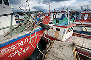 Old fishing boats, Puerto Natales, Patagonia, Chile