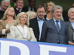 England manager Roy Hodgson watches in the stands with his wife Sheila Hodgson at Stamford Bridge.- Photo mandatory by-line: Alex James/JMP - Mobile: 07966 386802 - 10/05/2015 - SPORT - Football - London - Stamford Bridge - Chelsea v Liverpool - Barclays Premier League