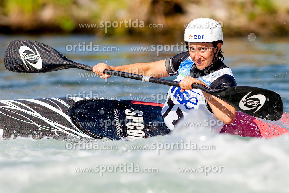Carole Bouzdi of France during Kayak(K1) Women semi-final race at ICF Canoe Slalom World Cup Sloka 2013, on August 18, 2013, in Tacen, Ljubljana, Slovenia. (Photo by Urban Urbanc / Sportida.com)