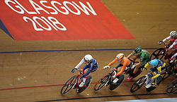 Great Britain's Laura Kenny in the women's elimination race during day four of the 2018 European Championships at the Sir Chris Hoy Velodrome, Glasgow.