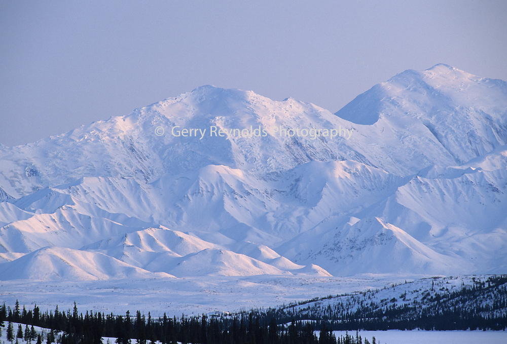Mount McKinley, Wonder Lake, Sunset, Winter, Denali National Park, Alaska