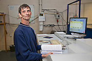 Ian Neillings, DG Operator. Remploy Print. Wythenshawe, Manchester.
