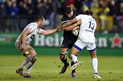 Mike Williams of Bath Rugby takes on the Clermont Auvergne defence - Mandatory byline: Patrick Khachfe/JMP - 07966 386802 - 06/12/2019 - RUGBY UNION - The Recreation Ground - Bath, England - Bath Rugby v Clermont Auvergne - Heineken Champions Cup
