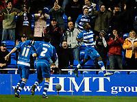 Photo: Daniel Hambury.<br />Reading v West Bromwich Albion. The FA Cup. 17/01/2006.<br />Reading's Leroy Lita (R) celebrates his goal.