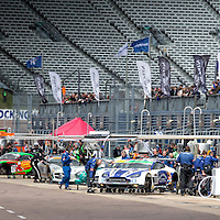 Rockingham 'Hot' paddock area. British GT Championships at Rockingham