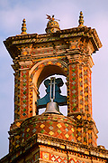 MEXICO, COLONIAL, PUEBLA San Francisco Acatepec tiled belltower