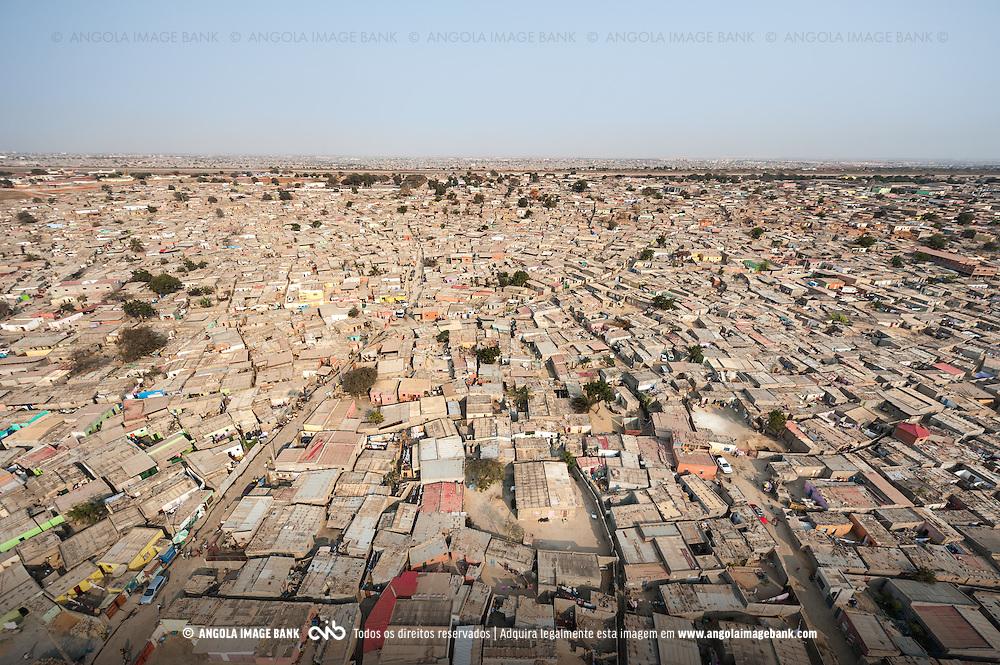 Vista aérea do município da Samba. Subúrbios de Luanda. Angola