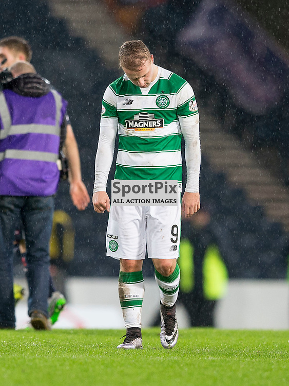 Ross County v Celtic Scottish League Cup semi-final 2015-2016  <br /> <br /> dejection for Leigh Griffiths (Celtic)  after the Ross County v Celtic, Scottish League Cup semi-final at Hampden Park Stadium on Sunday 31 January 2016.<br /> <br /> <br /> Picture: Alan Rennie