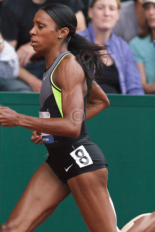 Olympic Trials Eugene 2012: women's 400 Hurdles, Lashinda Demus, winner